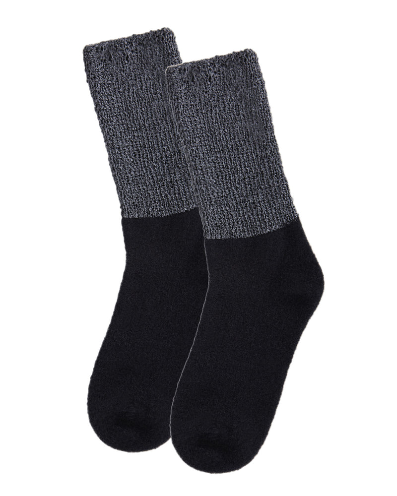Lamb Net Mod Crew Socks | Socks By MeMoi®  | MCF05394 | Black 2