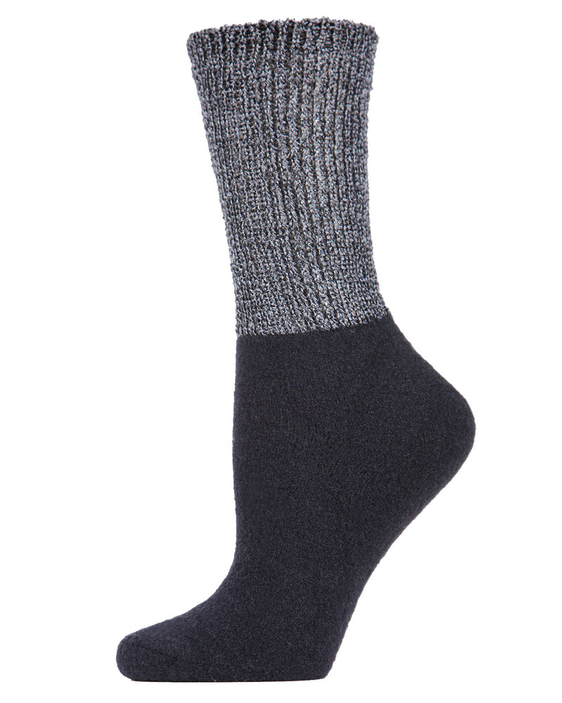 Lamb Net Mod Crew Socks | Socks By MeMoi®  | MCF05394 | Black