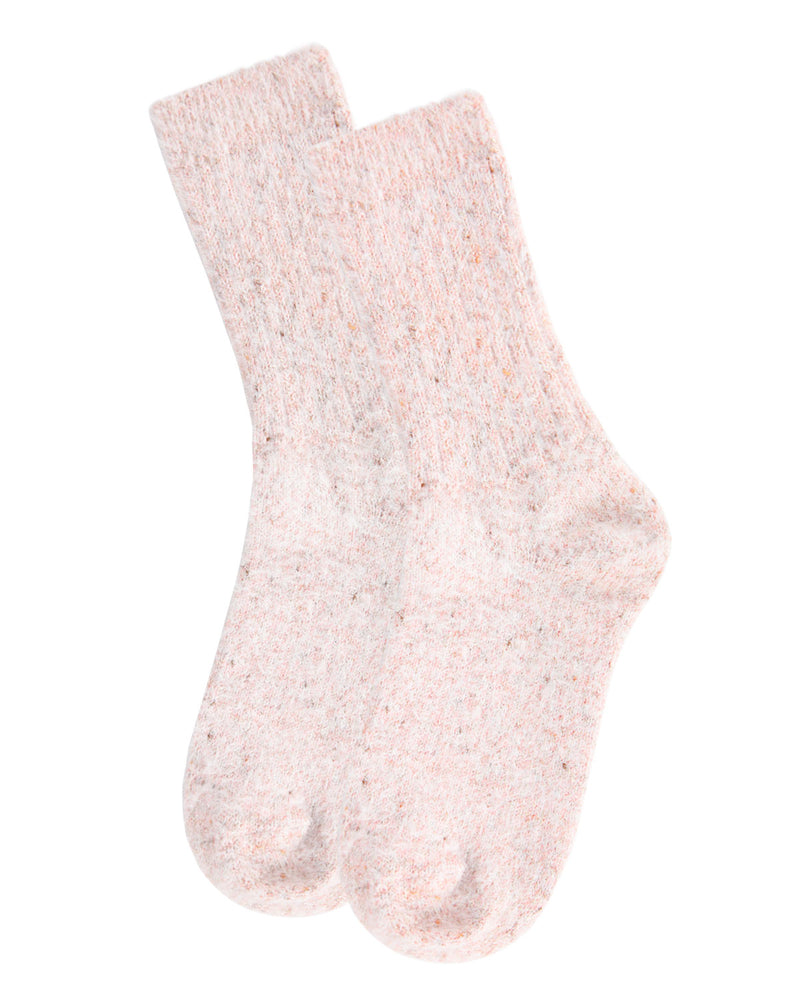 Pretty Glitter Plush Crew Socks