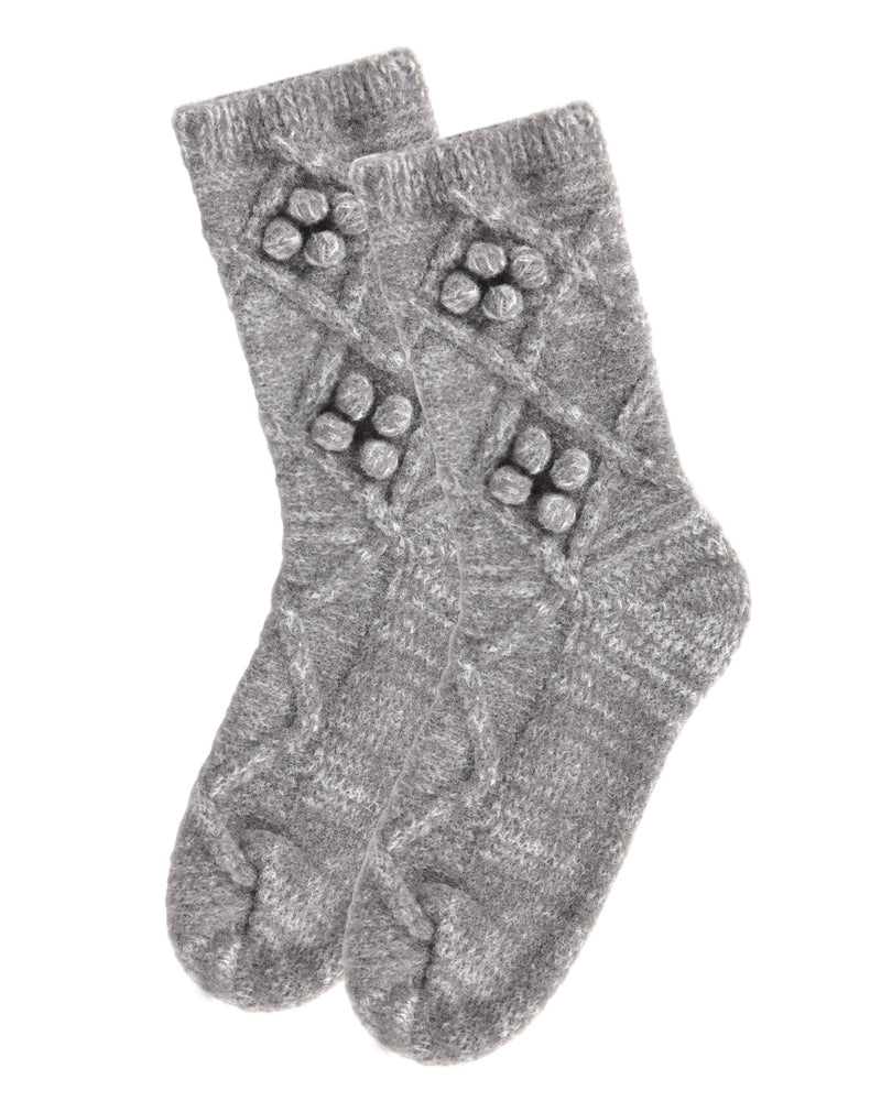 Blissful Bubble Warm Crew Socks | Socks By MeMoi®  | MCF05397 | Gray Heather 2