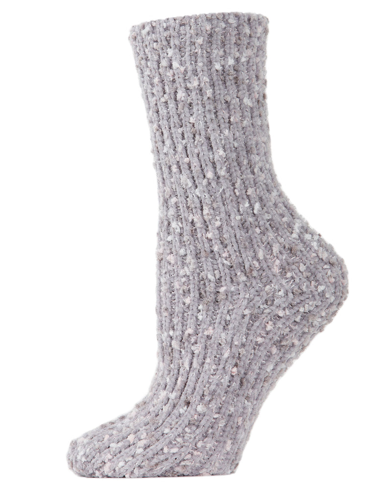 Confetti Cozy Crew Socks | Socks By MeMoi®  | MCF05398  | Light Gray