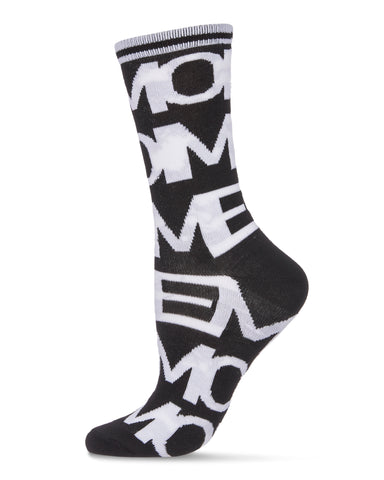 Me Moment Fashion Crew Socks