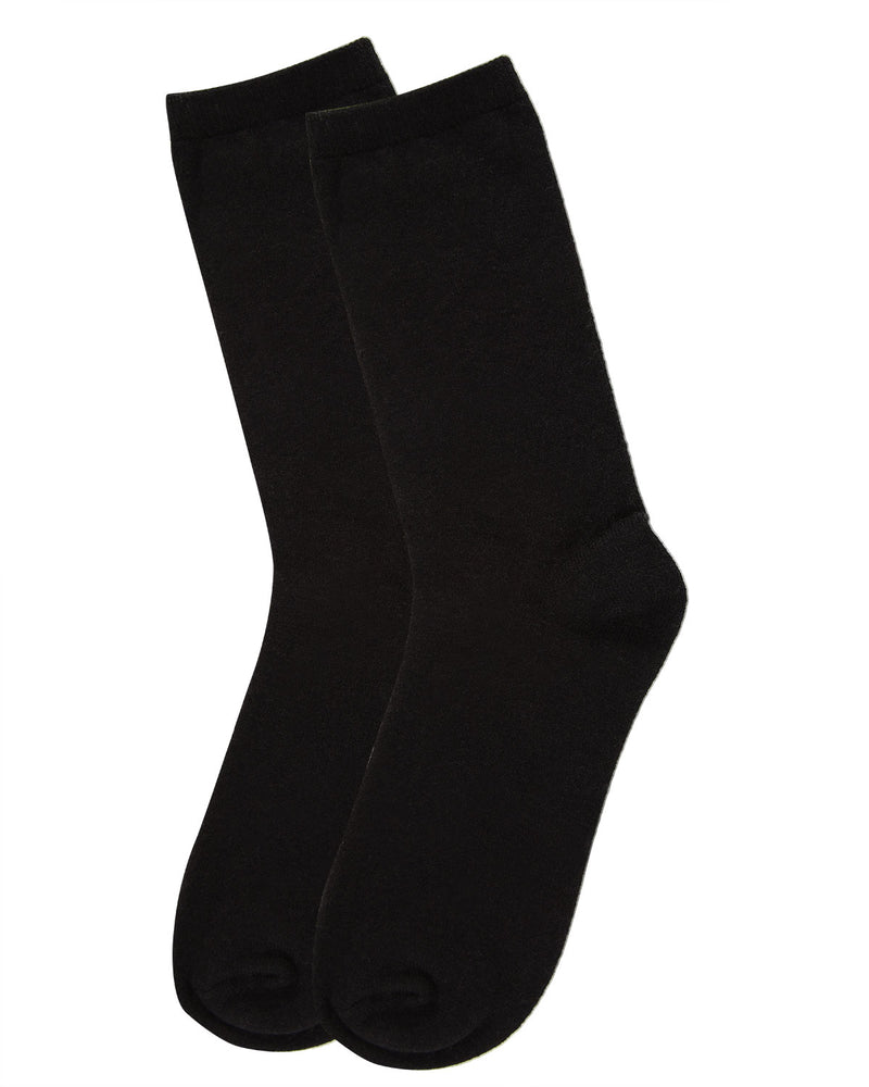 Flatknit Cashmere Crew | womens socks by MeMoi | Womens clothing | MCL05870-00001-9-11 Black -3