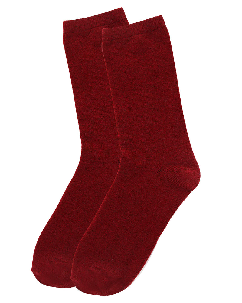 Flatknit Cashmere Crew | womens socks by MeMoi | Womens clothing | MCL05870-50110-9-11 cabernet -3