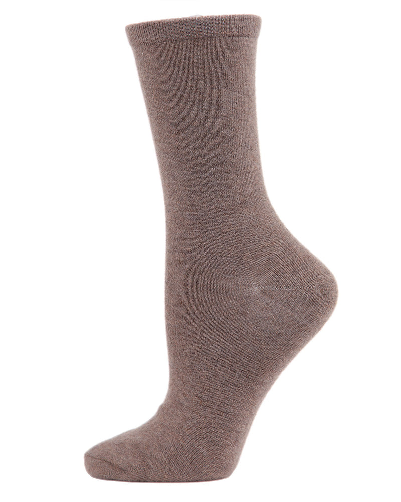 Flatknit Cashmere Crew | womens socks by MeMoi | Womens clothing | MCL05870-27031-9-11 hemp heather -1