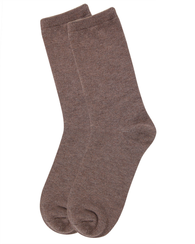 Flatknit Cashmere Crew | womens socks by MeMoi | Womens clothing | MCL05870-27031-9-11 hemp heather -3