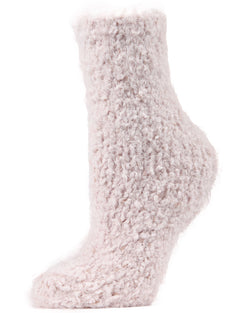 Cozy Metallic Twist Crew Socks | Plush Boot Socks by MeMoi® | Winter Socks | Pink MCP02528