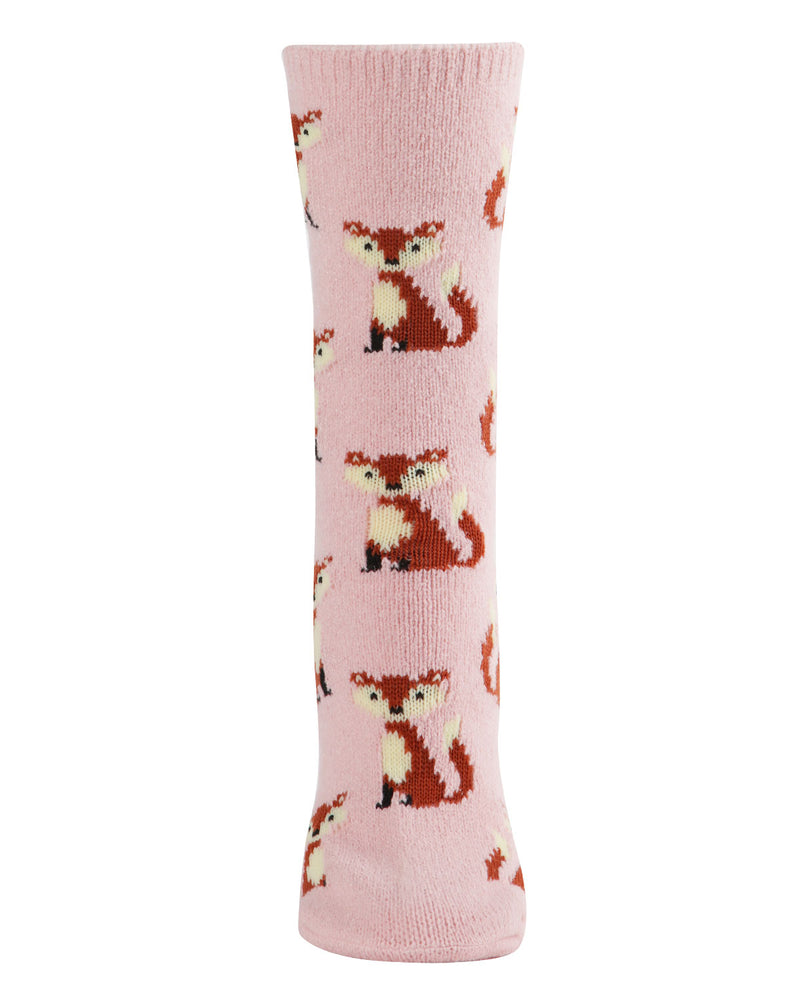 Fox Boot Socks | Fun novelty socks for Women by MeMoi | Womens clothing | MCV05529-68400-9-11 blush -2