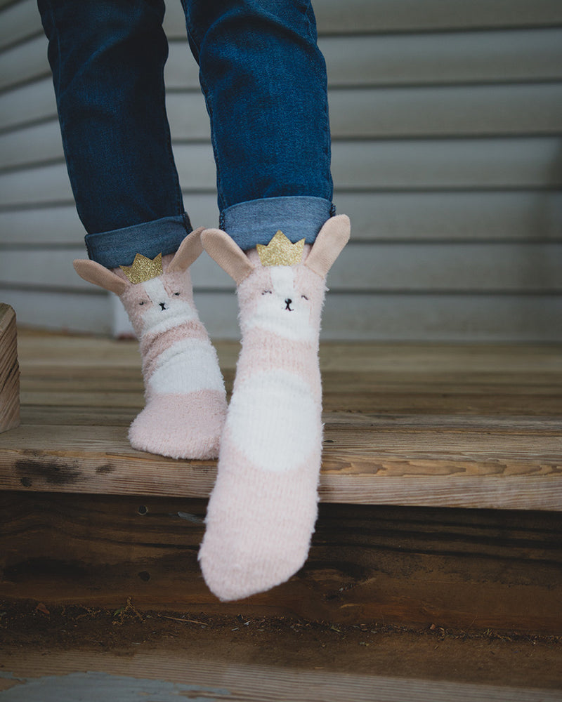 Princess Critter Plush Crew Socks