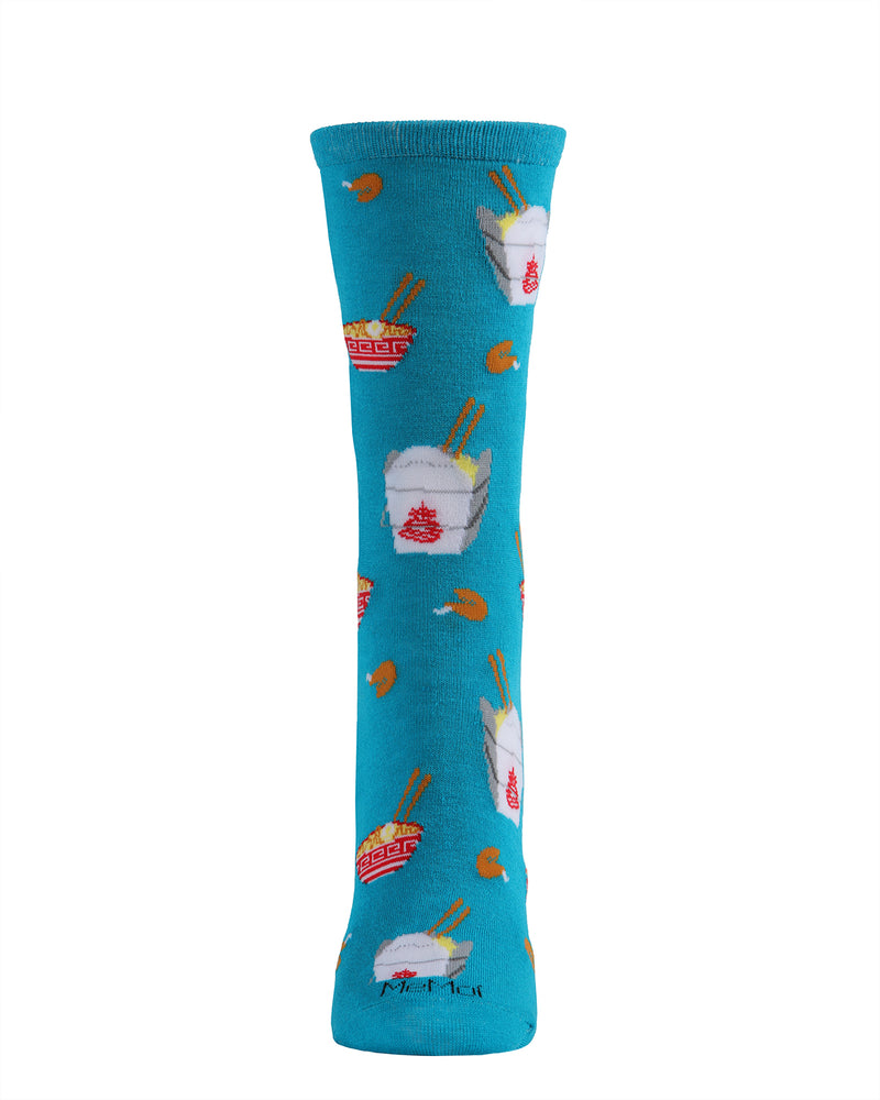 Chinese Takeout Bamboo Crew Novelty Socks | Fun Novelty Socks by MeMoi® | Deep Lagoon MCV05966 -3