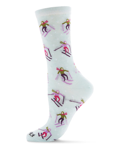 Skiing Paradise Novelty Crew Sock