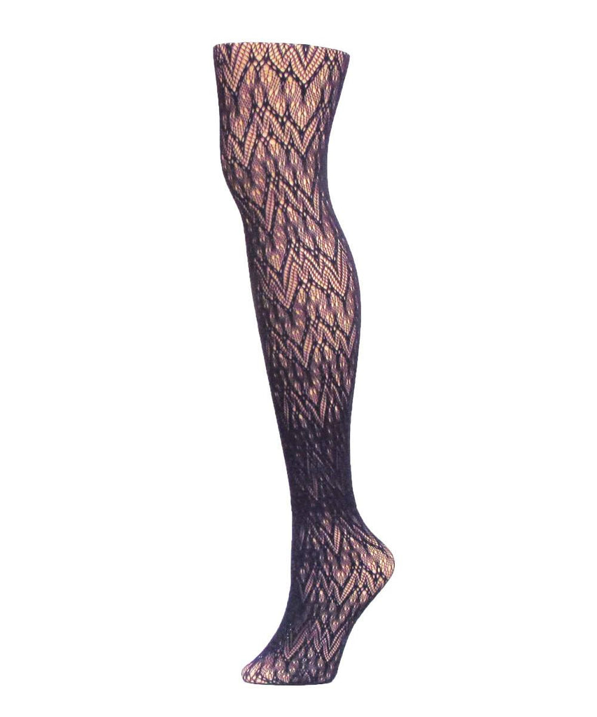Glacier Two Toned Net Tights - MeMoi - 1