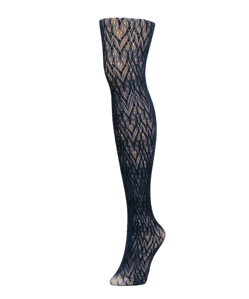 Glacier Two Toned Net Tights - MeMoi - 2