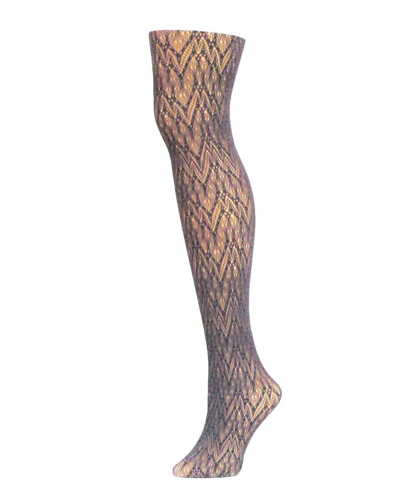 Glacier Two Toned Net Tights - MeMoi - 3