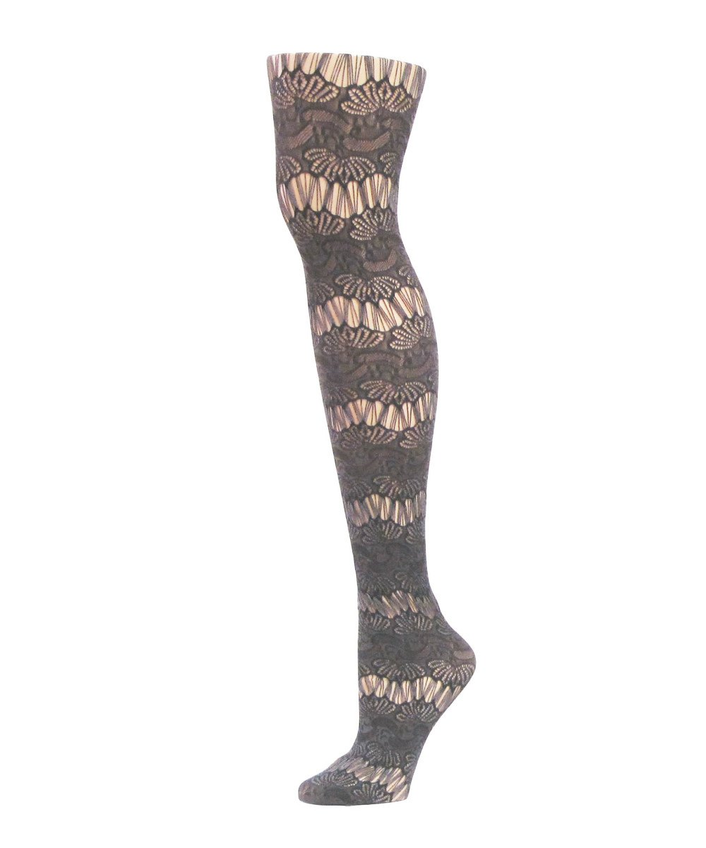 Semi Botanic Two Toned Net Tights - MeMoi - 1