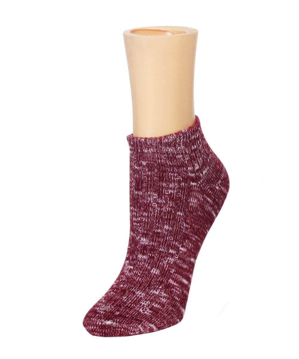 Rib Space Low Cut Running Super-Fit Cotton Socks - MeMoi - 2