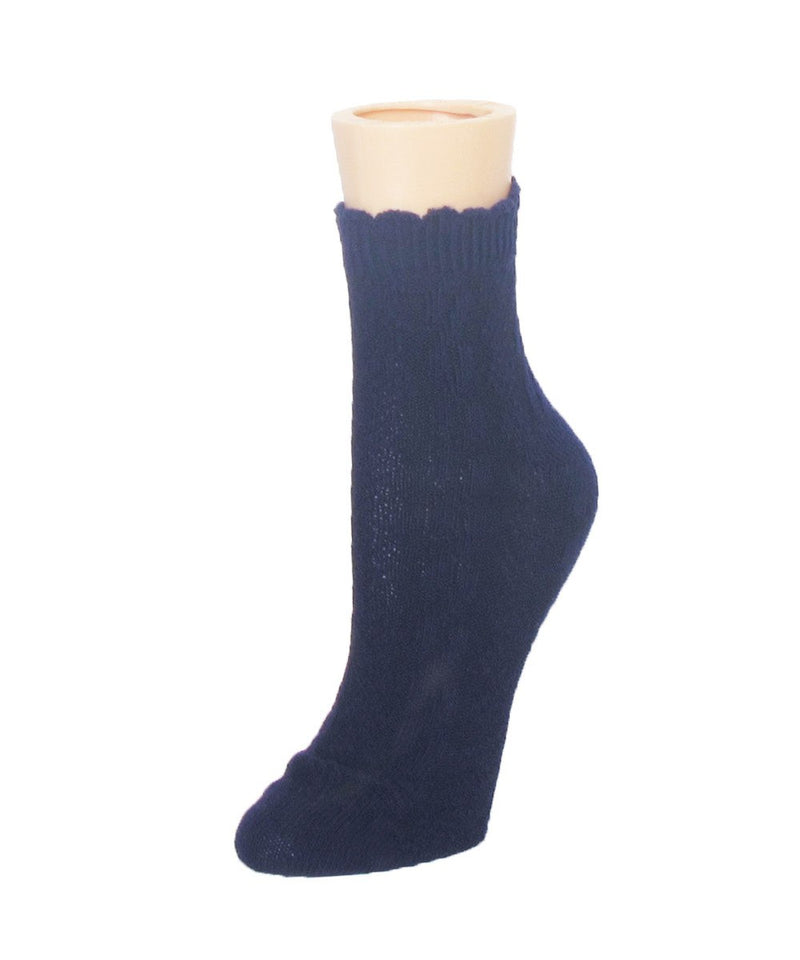 MeMoi Raised Cable Shortie Sock