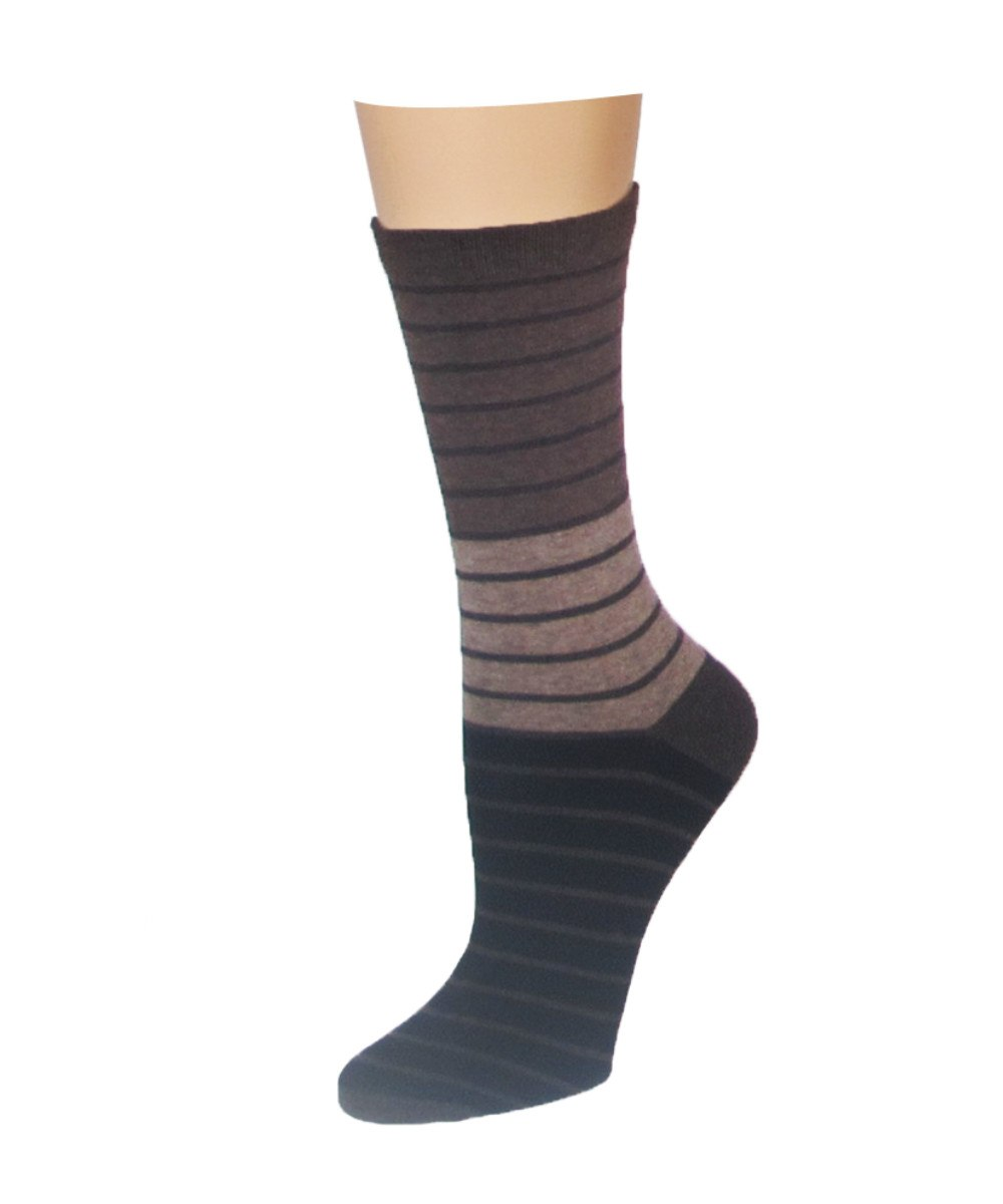Shaded Stripes Crew Socks - MeMoi - 3