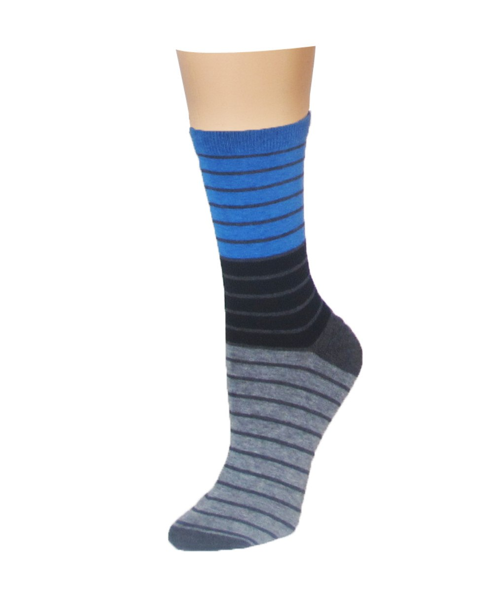 Shaded Stripes Crew Socks - MeMoi - 4