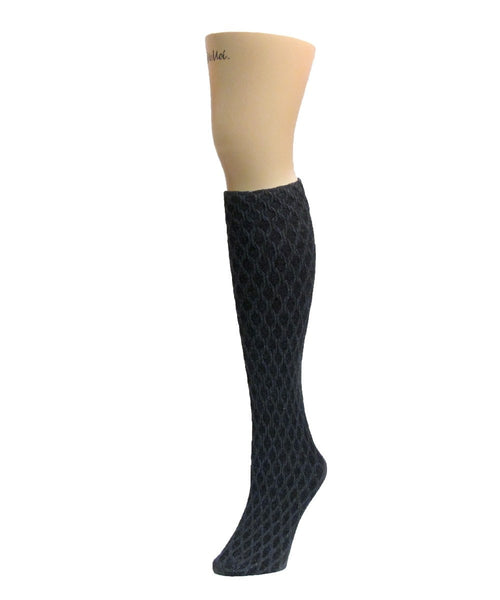 Exotic Diamond Opaque Knee High - MeMoi - 2