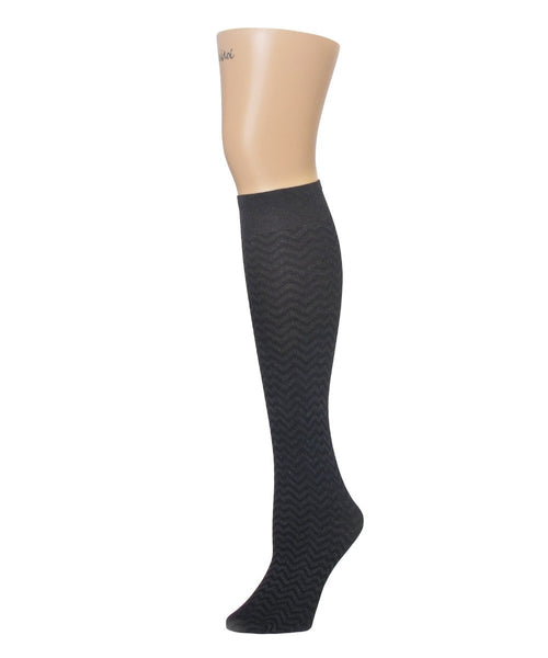 Horizontal Zag Opaque Knee High - MeMoi - 2