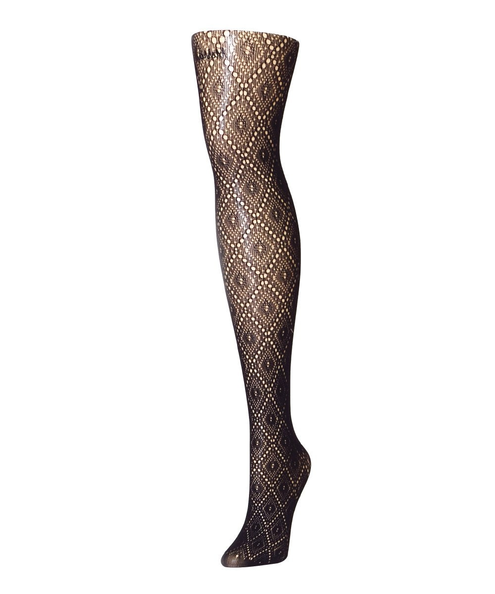 Framed Diamonds Net Tights - MeMoi - 1