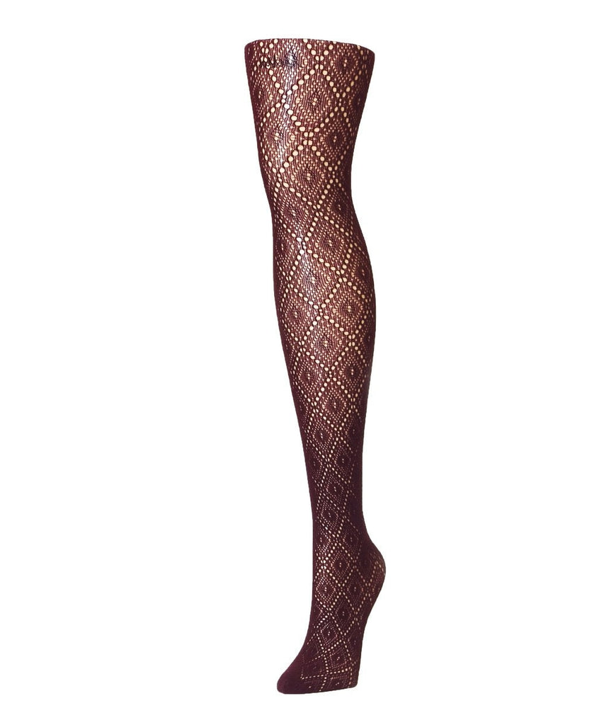 Framed Diamonds Net Tights - MeMoi - 2