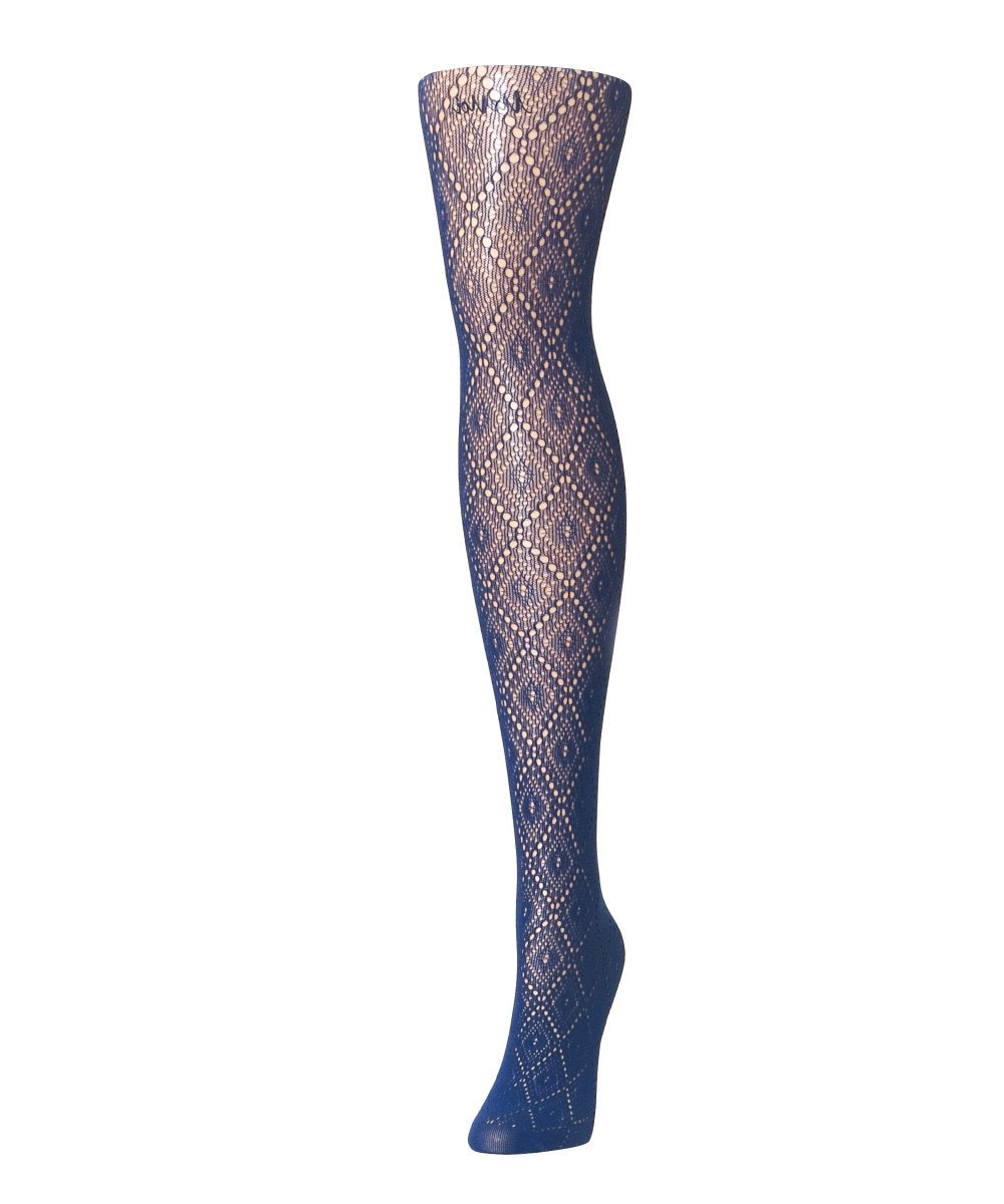 Framed Diamonds Net Tights - MeMoi - 3