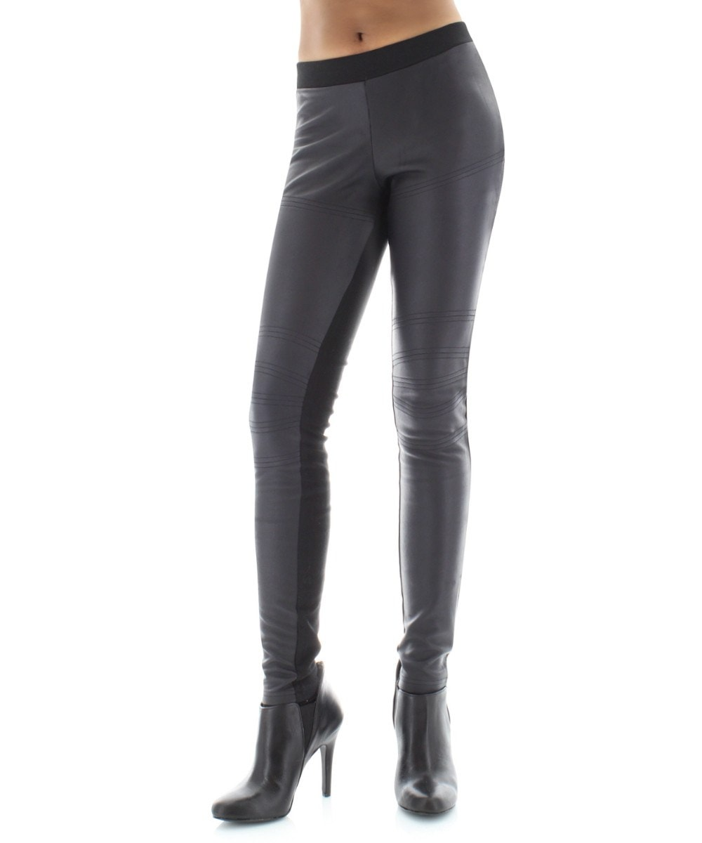 Pleather Chic Designer Leggings Pants - MeMoi - 1