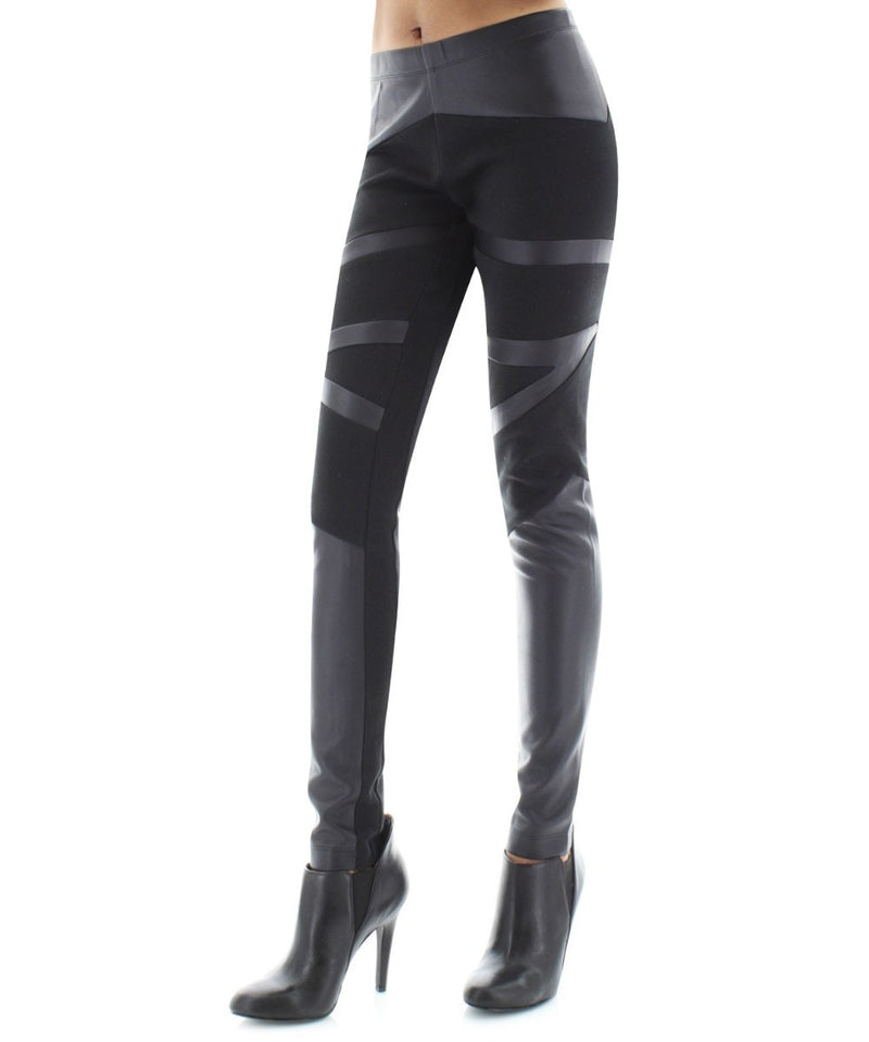 Retro Cut Designer Leggings Pants - MeMoi - 1