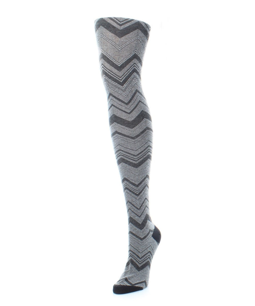 Chevron Stripe Sweater Tights - MeMoi - 1