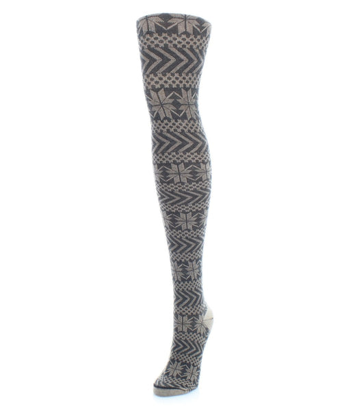 Snowflake Sweater Tights - MeMoi - 1