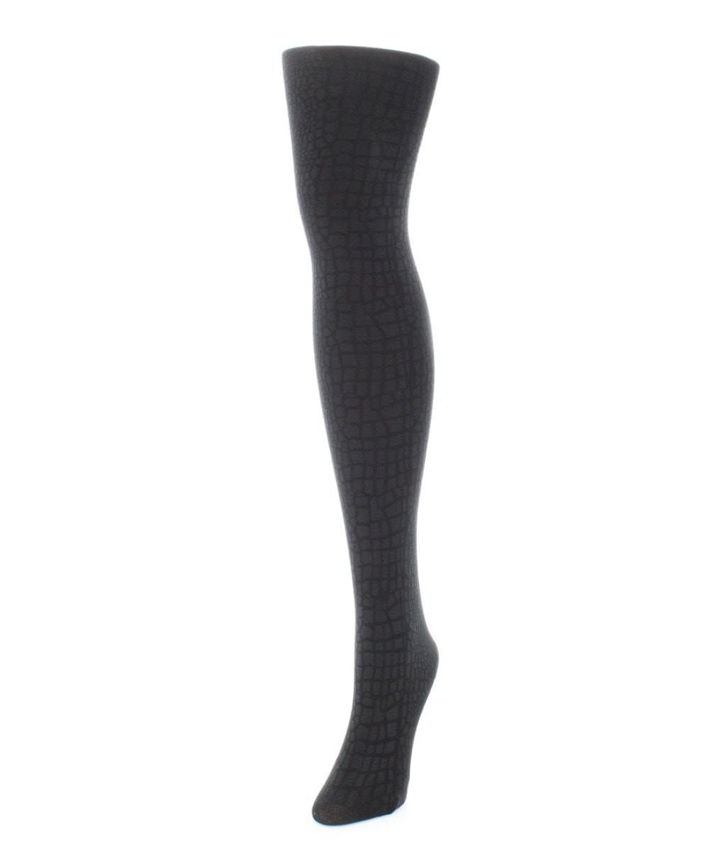 Snakeskin Fleece Tights - MeMoi - 1