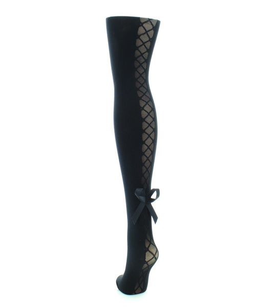 Corset Bow Sheer Tights - MeMoi