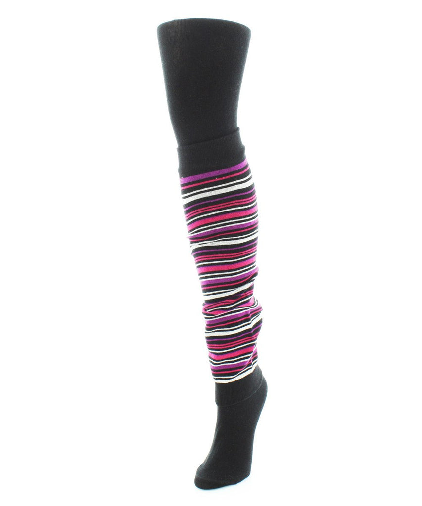Stripesation Legwarmer/ Flatknit Sweater Tights - MeMoi - 1