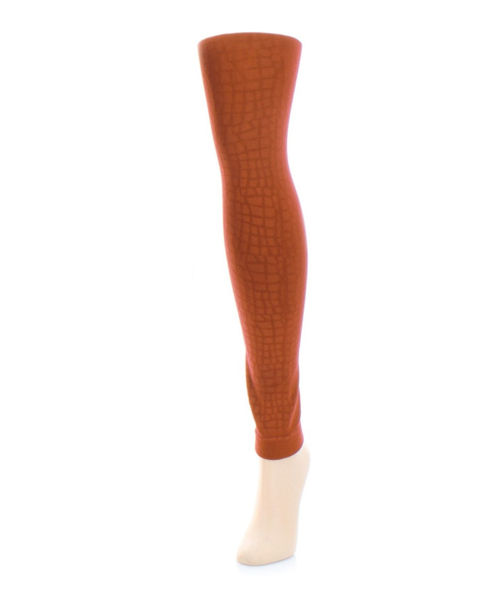 Snakeskin Fleece Footless Tights - MeMoi - 1