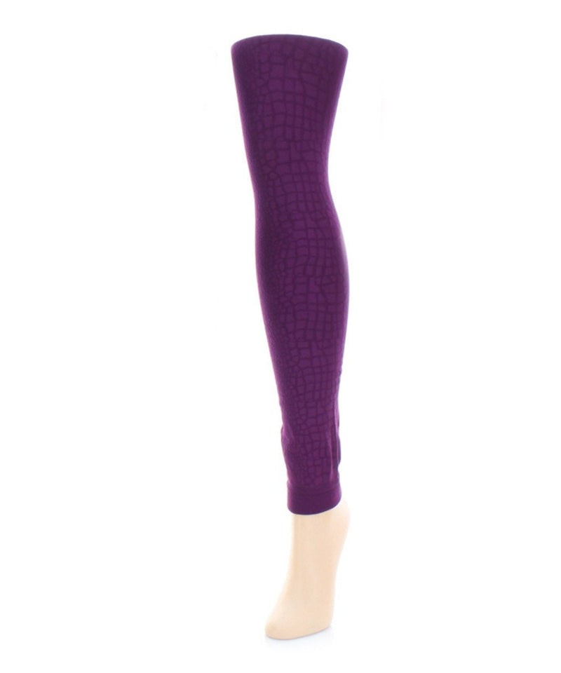 Snakeskin Fleece Footless Tights - MeMoi - 3