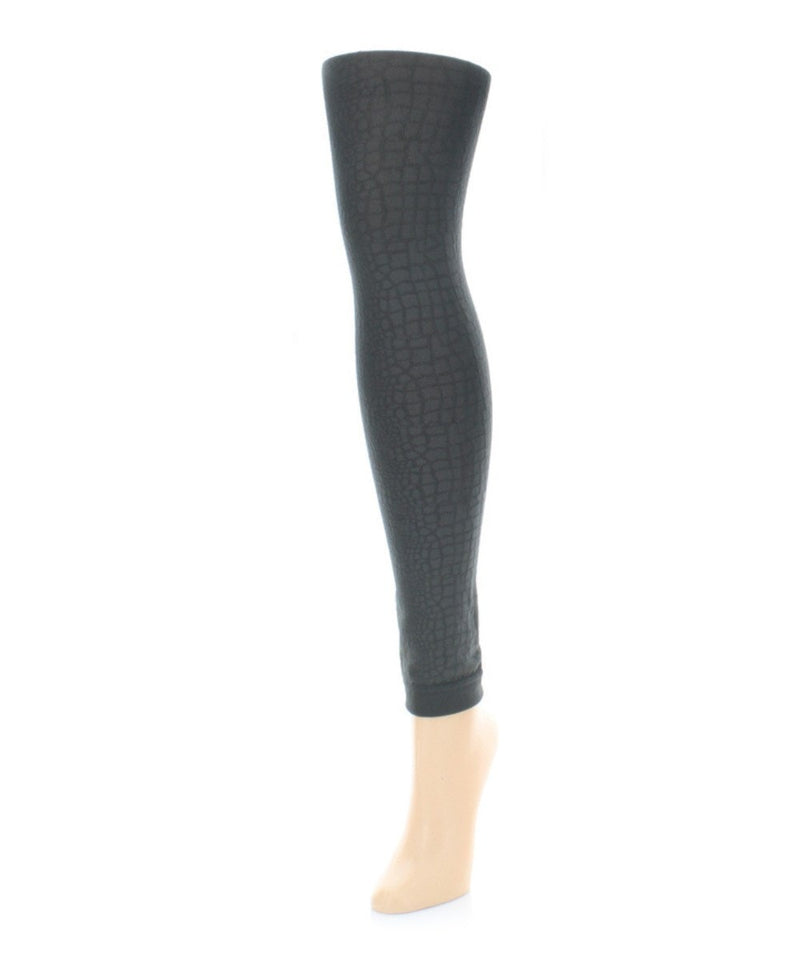 Snakeskin Fleece Footless Tights - MeMoi - 4