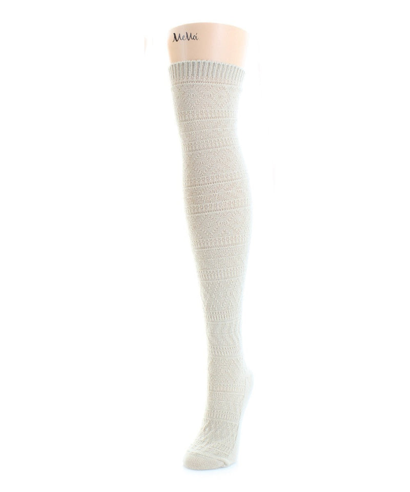 Textured Fairisle Over The Knee - MeMoi - 3