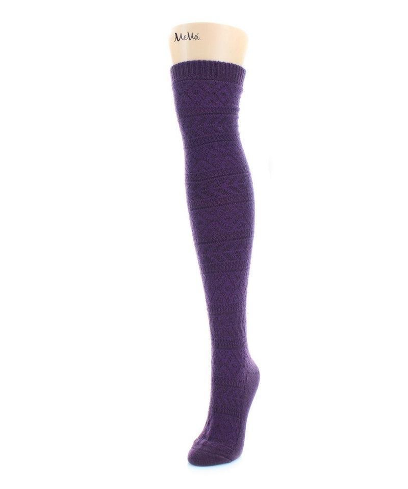 Textured Fairisle Over The Knee - MeMoi - 5