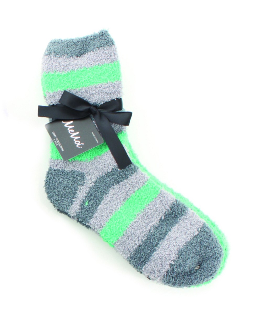 Striped/Solid Cozy Crew Two Pair Pack - MeMoi - 1