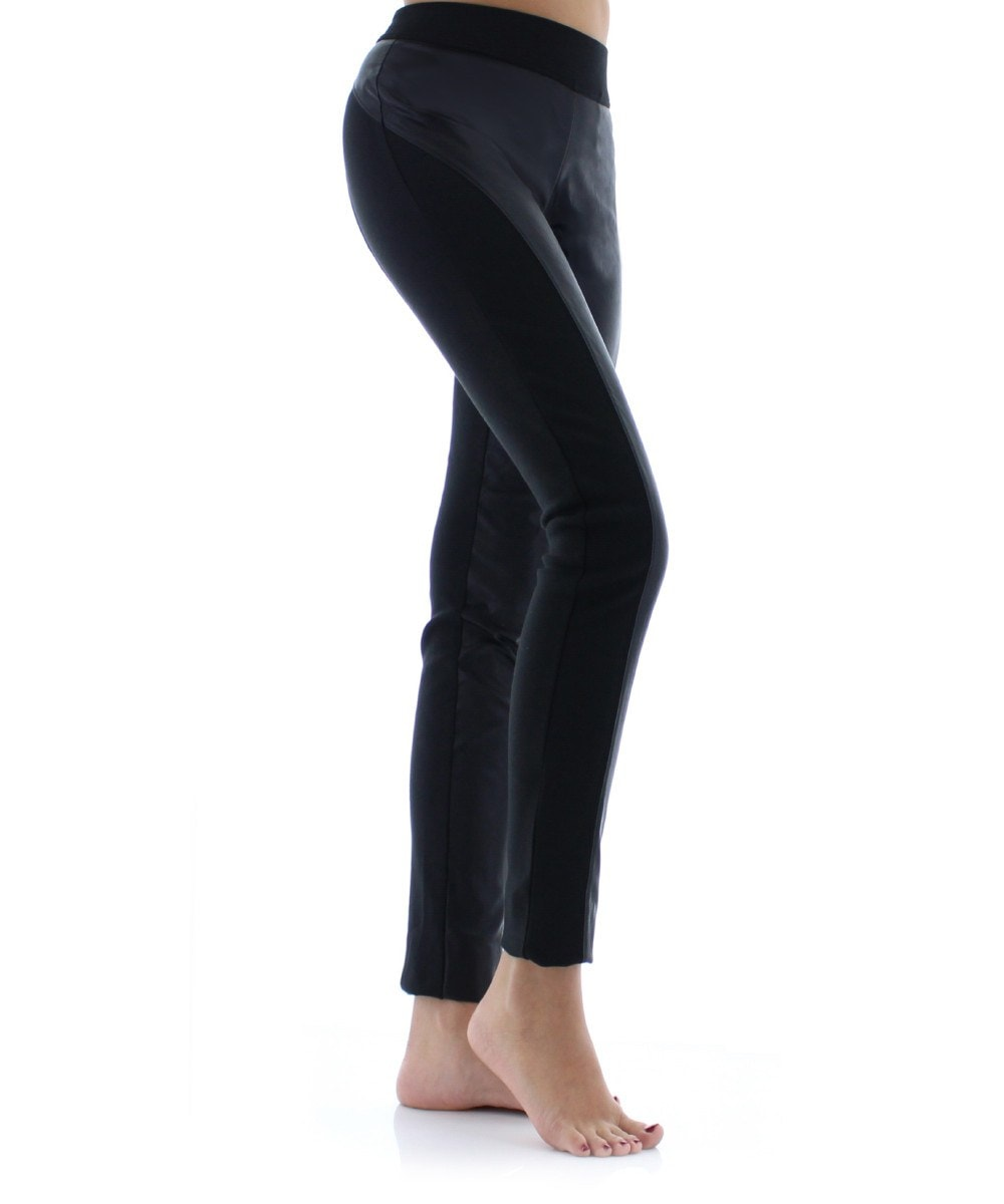 Pleather Chic Fashion Leggings - MeMoi - 1