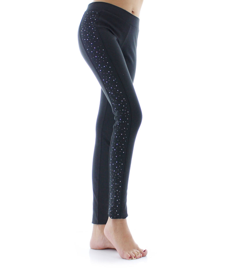 Glampagne Holiday Womens Studded Leggings - MeMoi - 1