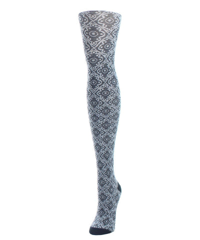 Diamond Pattern Swirl Womens Sweater Tights - MeMoi - 1