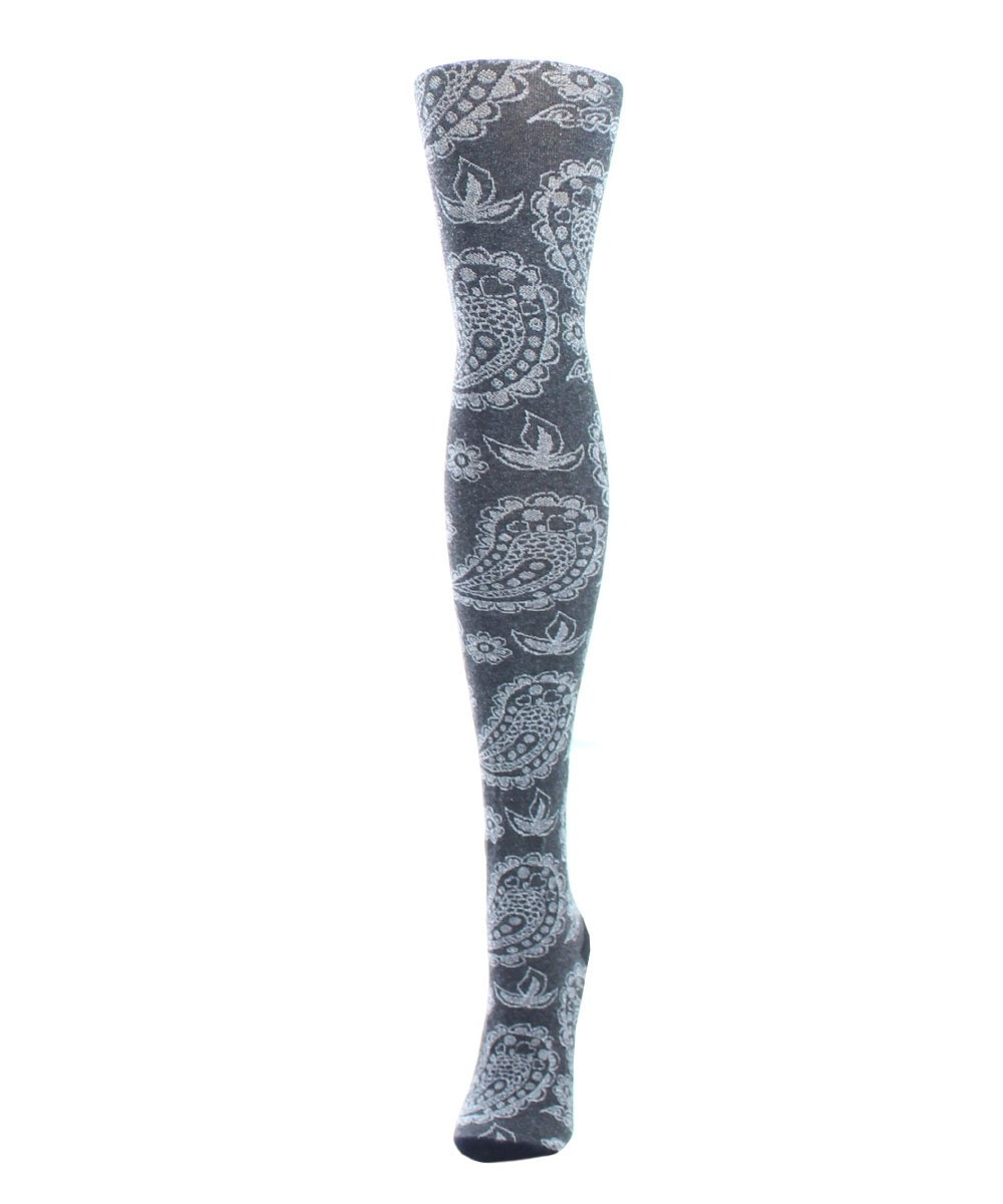 Paisley Patch Sweater Tights - MeMoi - 1