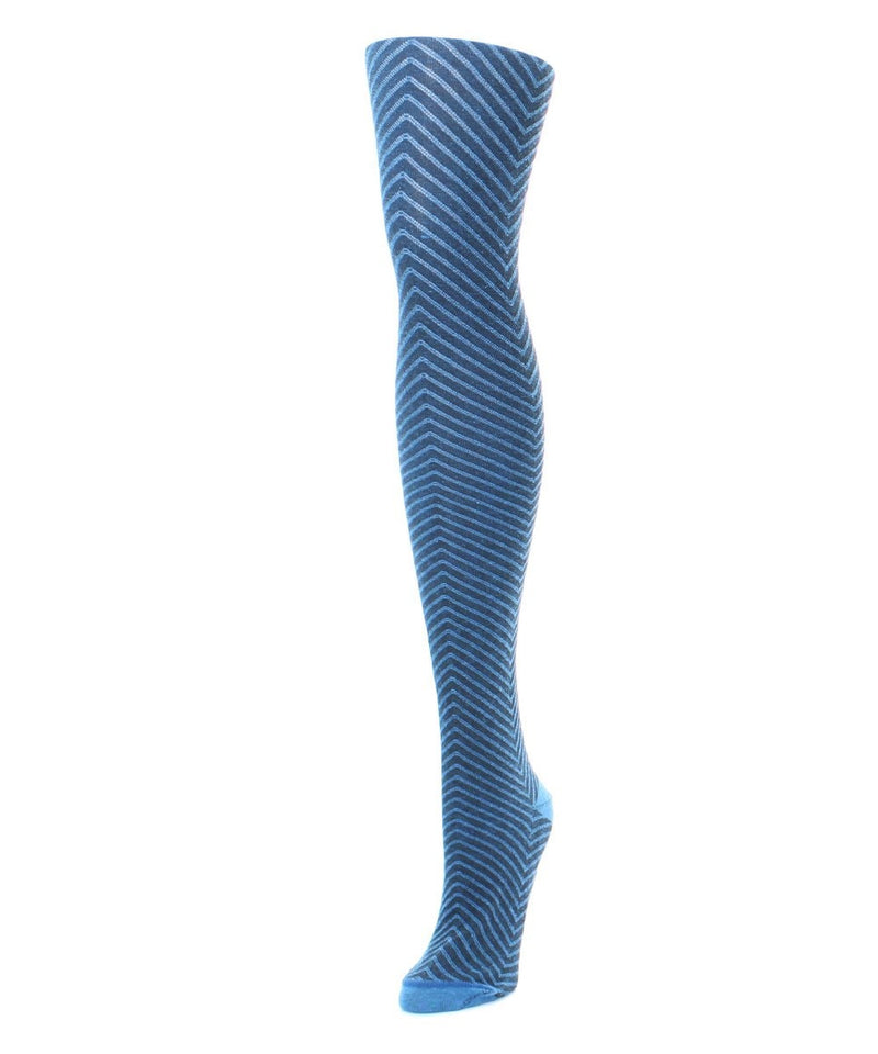 MeMoi Chevron Knit Sweater Tights