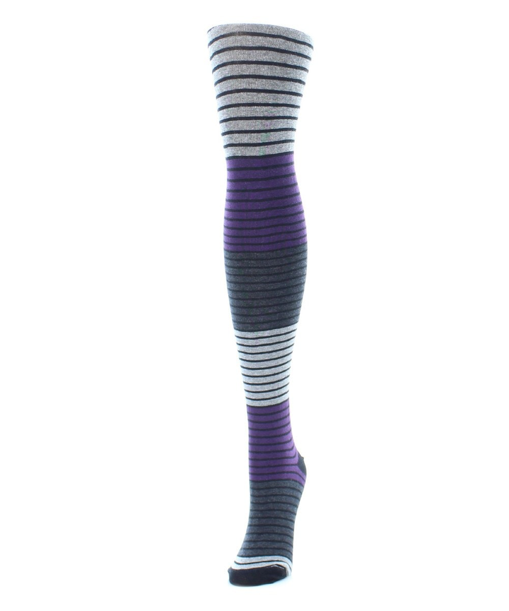 Gradient Stripes Sweater Tights - MeMoi - 1
