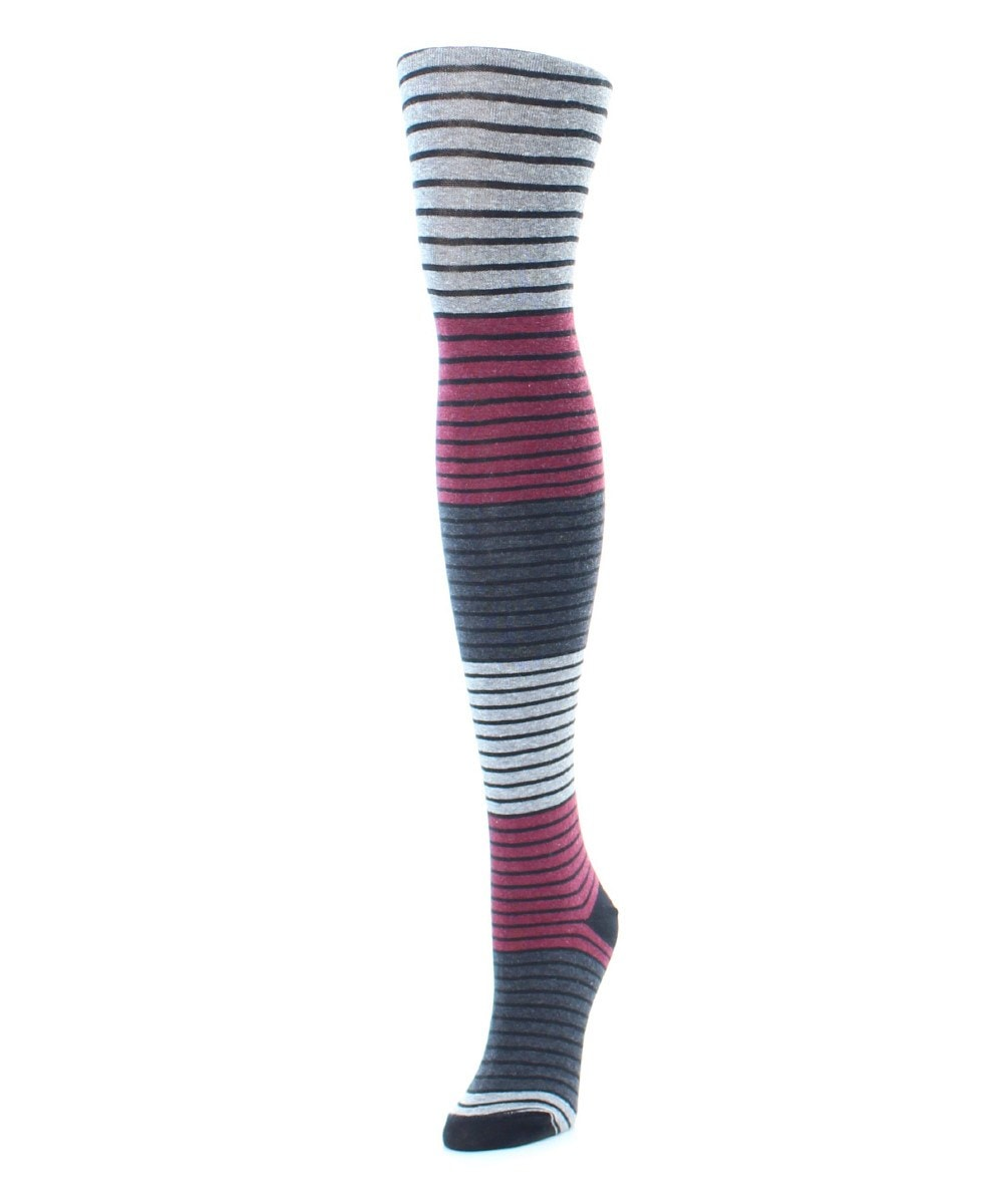 Gradient Stripes Sweater Tights - MeMoi - 2