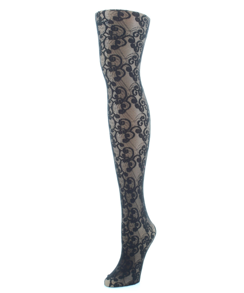 Elegant Swirl Sheer Tights - MeMoi