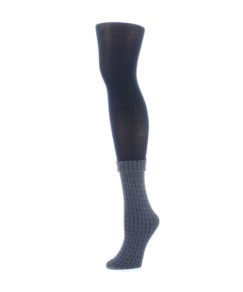 Link Obscurity Layered-Look Tights - MeMoi